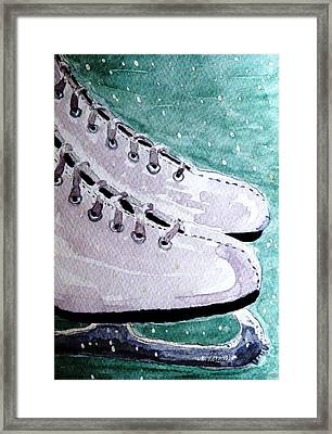 To Skate Framed Print by Angela Davies