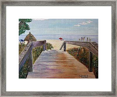 To The Beach Framed Print