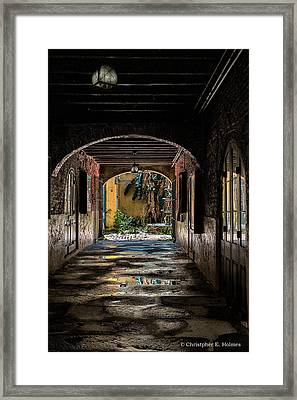 To The Courtyard Framed Print by Christopher Holmes