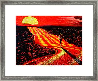 To The Sun Framed Print by Viktor Lazarev