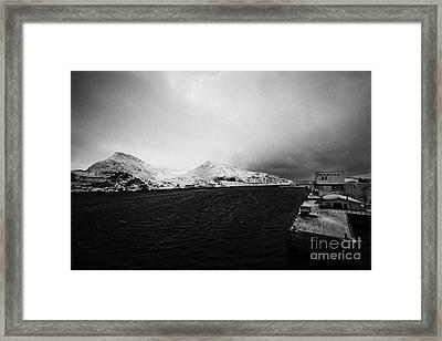 Tobo Fisk Fish Processing Plant And Pier Harbour Havoysund Finnmark Norway Europe Framed Print