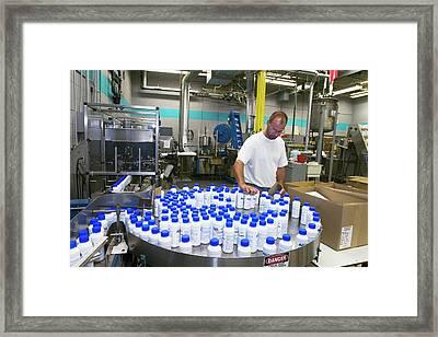 Toilet Chemical Factory Framed Print