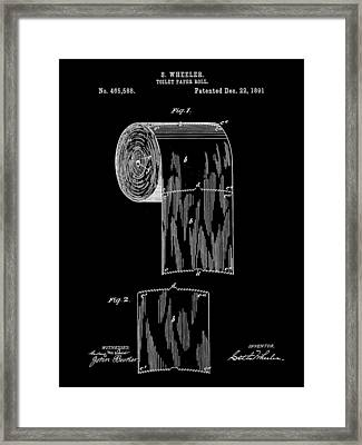 Toilet Paper Roll Patent 1891 - Black Framed Print by Stephen Younts