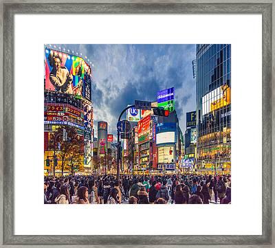 Tokyo Japan Shibuya Crossing Framed Print by Cory Dewald