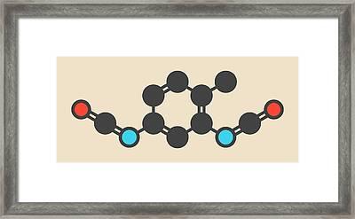 Toluene Diisocyanate Molecule Framed Print by Molekuul