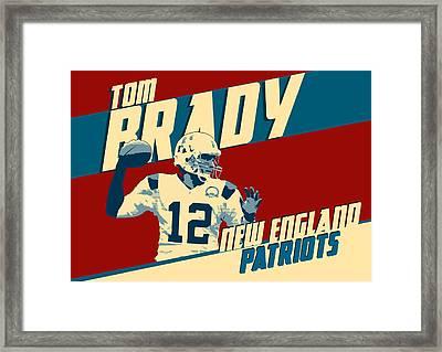Tom Brady Framed Print