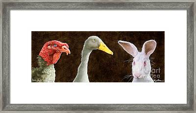 Tom Duck And Harry... Framed Print by Will Bullas