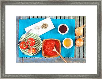 Tomatoes And Onions Framed Print