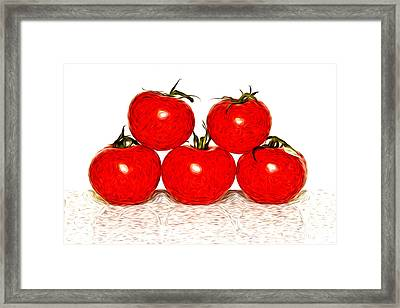 Tomatoes Framed Print by Sabine Jacobs