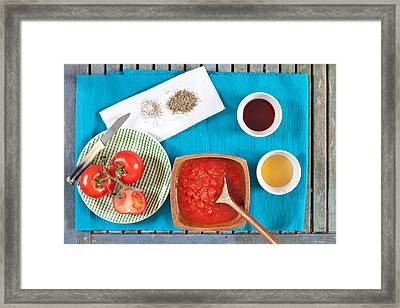 Tomatoes Framed Print by Tom Gowanlock