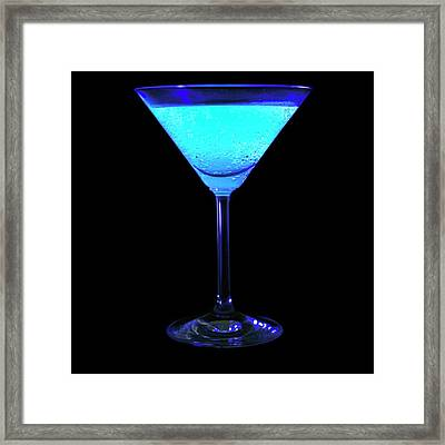 Tonic Water Fluorescing Framed Print by Science Photo Library
