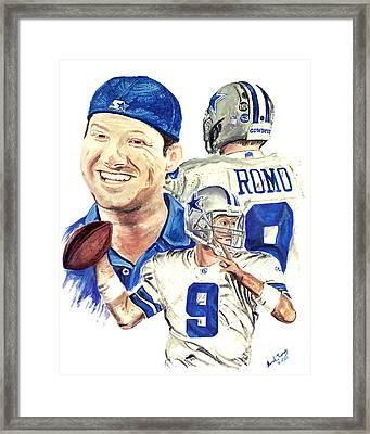 Tony Romo Framed Print