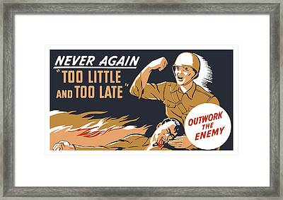 Too Little And Too Late - Ww2 Framed Print by War Is Hell Store