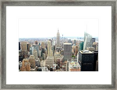 Top Of The Rock Framed Print by Jon Cotroneo