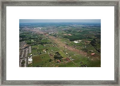 Tornado Aftermath Framed Print by Bradley C. Church