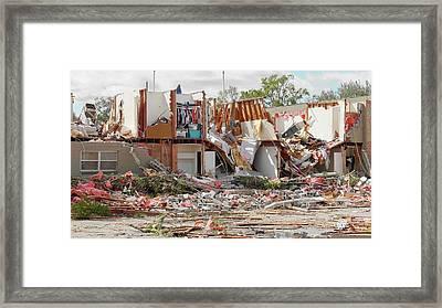 Tornado Damage Framed Print