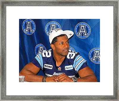 Toronto Argonauts Players Signing Autographs Framed Print