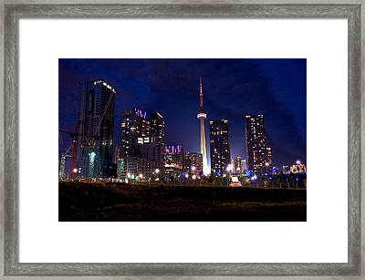 Toronto By Night Framed Print