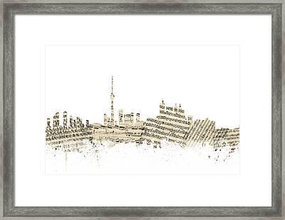 Toronto Canada Skyline Sheet Music Cityscape Framed Print