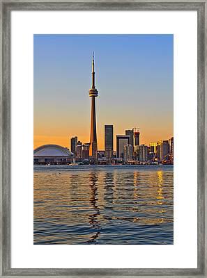 Toronto City View Framed Print by Marek Poplawski