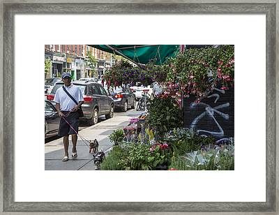 Toronto Flower Shop Framed Print by John McGraw