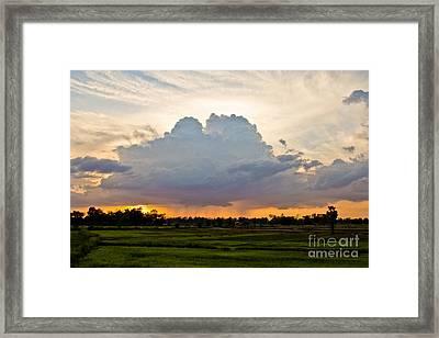 Torrent Framed Print by Thammasak Kanjananul