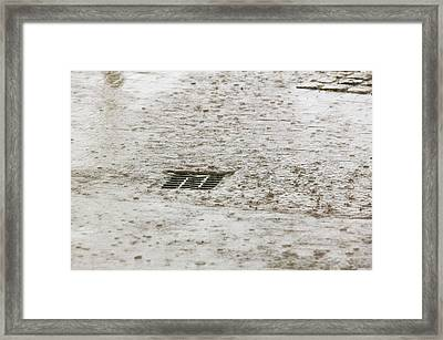 Torrential Rain Framed Print by Ashley Cooper