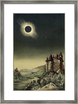 Total Solar Eclipse Of 1842 Framed Print by Detlev van Ravenswaay