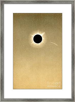 Total Solar Eclipse Of 1882 And Comet Framed Print
