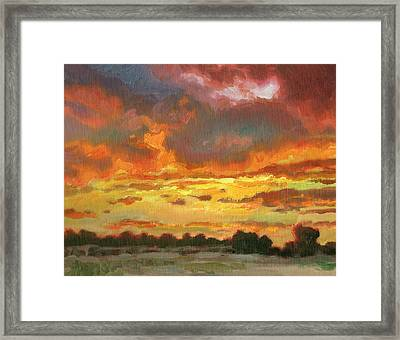 Touch Of Gold Framed Print by Kevin  McCain