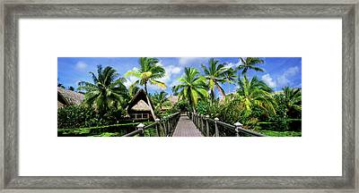 Tourist Resort, Tahiti, French Polynesia Framed Print by Panoramic Images