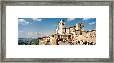 Tourists At A Church, Basilica Of San Framed Print by Panoramic Images