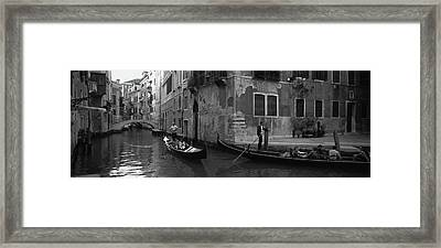 Tourists In A Gondola, Venice, Italy Framed Print