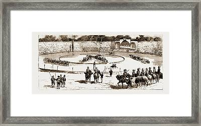Tournament At Rome In Honour Of The Duke Of Genoa Framed Print by Litz Collection