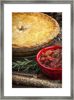 Tourtiere Meat Pie Framed Print
