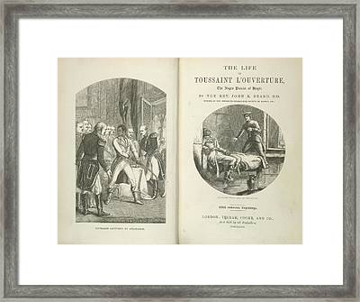 Toussaint Louverture Framed Print by British Library