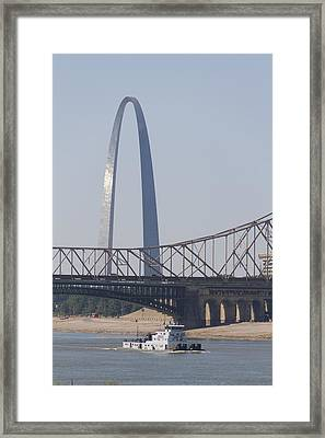 Towboat In St Louis Framed Print