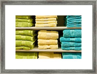 Towels Framed Print by Tom Gowanlock