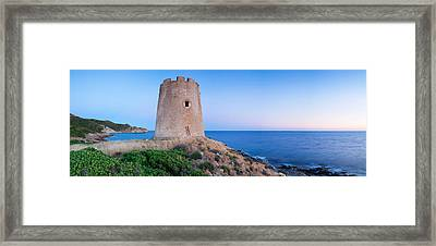 Tower At The Seaside, Saracen Tower Framed Print by Panoramic Images