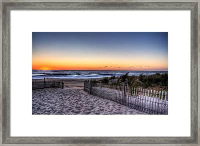 Tower Beach Sunrise Framed Print