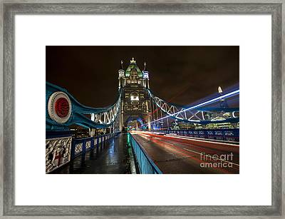 Tower Bridge London Framed Print by Donald Davis