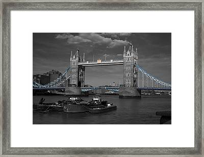 Tower  Bridge Thames London Framed Print by David French