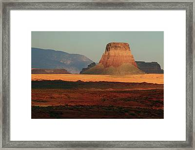 Tower Butte At Sunset, Glen Canyon Framed Print