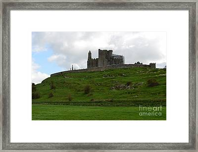 Towering Rock Of Cashel Framed Print