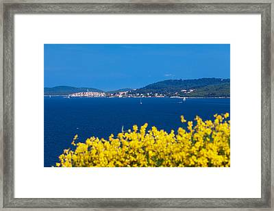 Town On An Island, Korcula, Korcula Framed Print by Panoramic Images