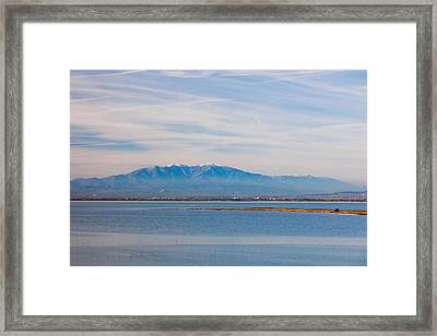 Town Overview From Cap Leucate Framed Print by Panoramic Images