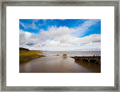 Town Pier On The Gironde River Framed Print