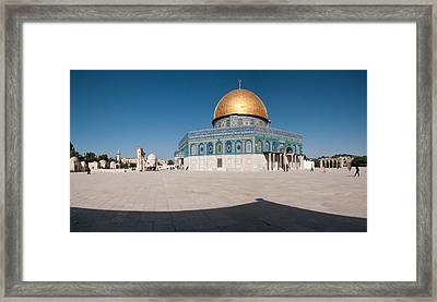 Town Square, Dome Of The Rock, Temple Framed Print