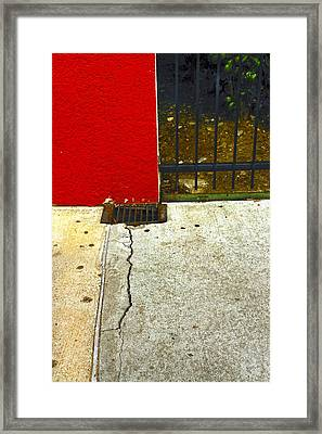 Town Square Framed Print