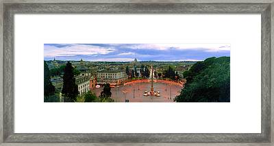 Town Square With St. Peters Basilica Framed Print